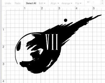 Final Fantasy 07 Meteor vinyl Decal
