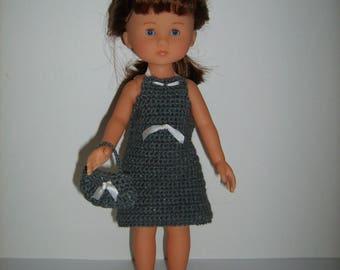 Dress and handbag for doll 33cm