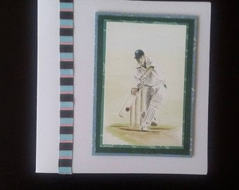 Cricket greeting card blank inside