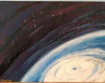 Hurricane From Outer Space Painting