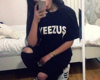 yeezus, kanye west, yeezy, tumblr shirt, hipster, grunge, instagram, tshirt with sayings, slogan, quotes, funny shirts, aesthetic