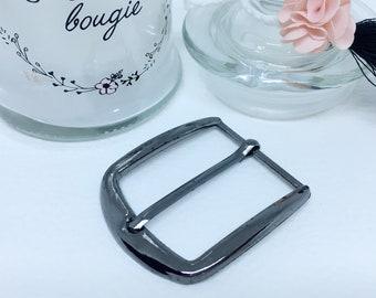 Belt buckle, loop black - 30 mm