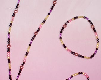 Tangled Insprired Necklace and Bracelet Set
