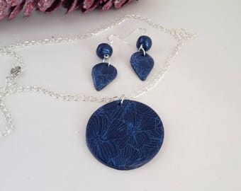 Ornament pendant and earrings