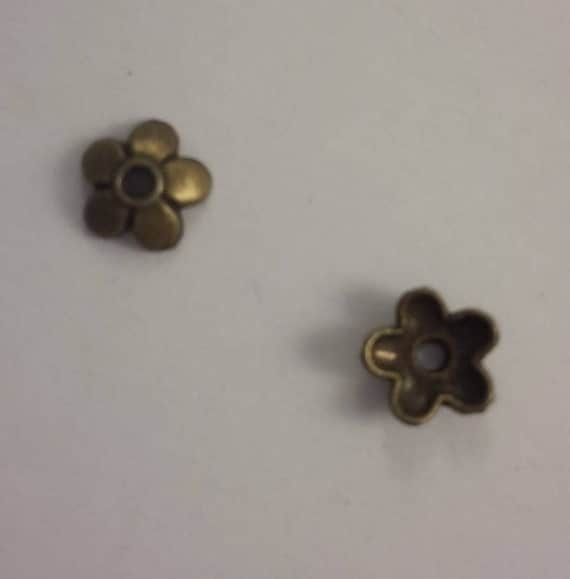 Set of 10 caps - bronze - 5 mm