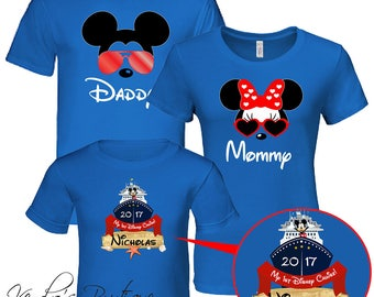 Disney Family Trip T-Shirts 2018, Family Set, Mickey Family Set, Disney Vacation, Disney Cruise, Custom name and number