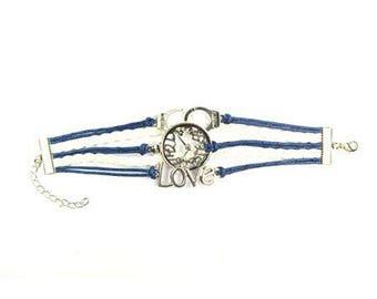 Bracelet multirang bleu et blanc - Love - Ref 5370-04831 ---------- Jusqu'à épuisement du stock !