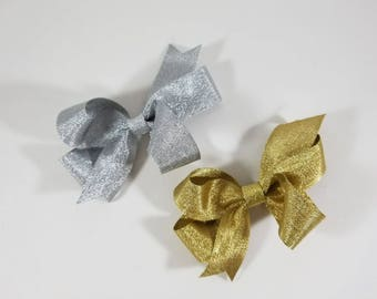 Small Metallic Grosgrain Bows