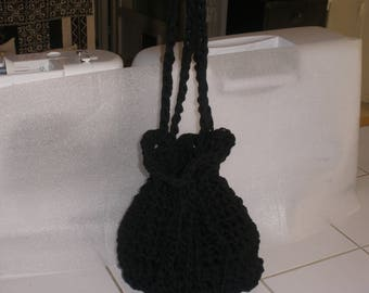 Black hooked pouch bag