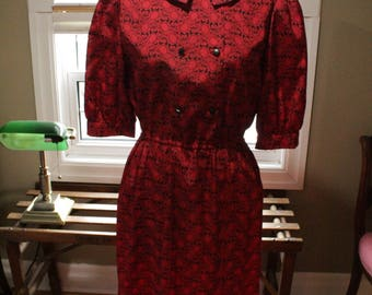 Late 1940's Day Dress