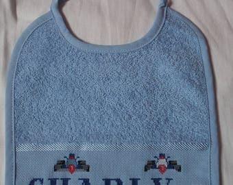 Baby Blue lace bib