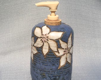 Stoneware soap/lotion dispenser
