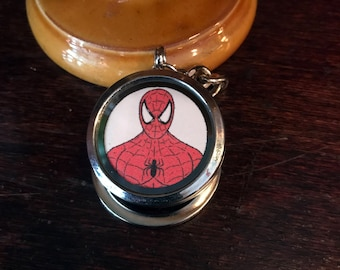 Spiderman/Peter Parker original fan art Magnetic Keychain Locket. Open locket to unmask Spiderman!