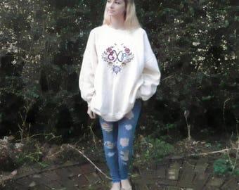 90s Express Embroidered Sweatshirt Medium