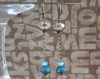 Blue Pearl Earrings