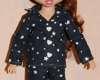 Navy Blue pajamas and White Star for animators doll