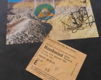 Hawkwind signed tour programme '80