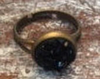 Blacky Druzy Ring