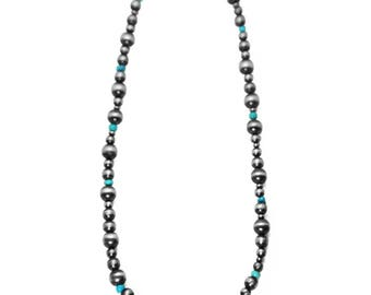 """Navajo Pearl & Turquoise 16"""" Necklace"""