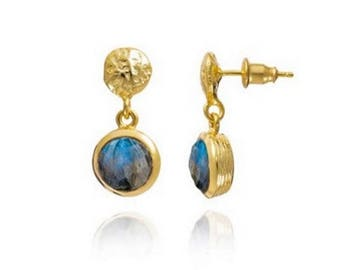 boucles d'oreilles Labradorite Kate Middleton