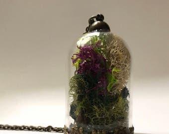 Moss Terrarium Pendant Necklace