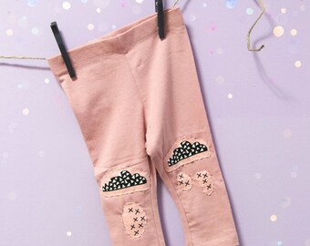 Baby Leggings with patch mod. Clouds