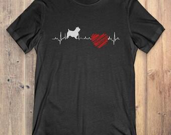 Norwich Terrier Dog T-Shirt Gift: Norwich Terrier Heartbeat