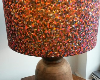 "Handmade Lampshade in Liberty ""Pointillism"" fabric. 40cm drum shade fro lampbase or ceiling pendant."
