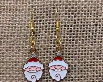 Santa Earrings • Christmas Earrings • Holiday Earrings