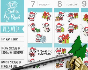 Planner Stickers - Mini Planner Stickers - TN Stickers - Christmas Stickers -  Holiday Stickers - Scrapbook Stickers Sheet - Christmas #1
