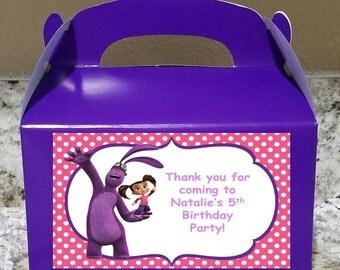 SALE! 12 Kate & Mim Mim Treat Boxes, Kate and Mim Mim Gable Boxes, Kate and Mim Mim Candy Boxes, Kate and Mim Mim Party Boxes