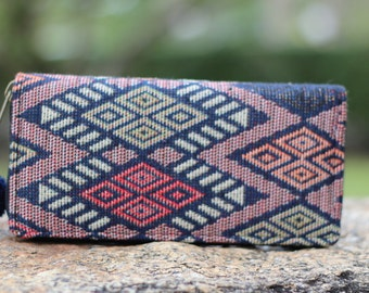 Womens Boho Wallet   Wallet Womens    Purse   Fabric Wallet     Zipp Wallet   Bohemian Wallet    Vegan Wallet   Hippie Wallet  Gift For Her