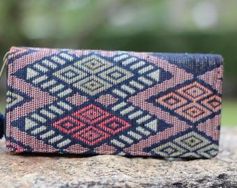 Geometric Fabric  Womens Wallet    Wallet Womens   Vegan Purse    Bohemian Wallet   Vegan Wallet   Hippie Wallet  Gift For Her  Clutch purse