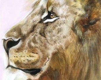 Lion Watercolour Print