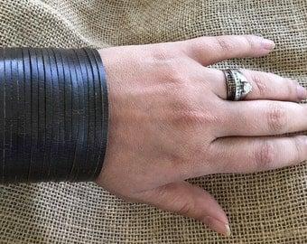 Leather Strappy Cuff