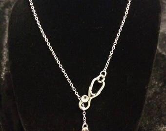 Stethoscope Paw Print Necklace