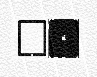 Apple iPad Gen 1 - Skin Cut Template  - Templates for cutting or machining - Digital Download - Plotter, CNC, Laser Cutter - SVG