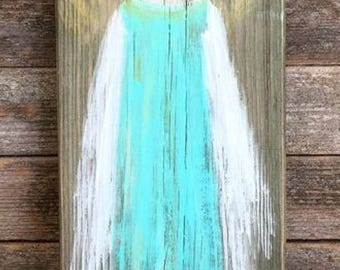 Wooden Guardian Angel Home Decor