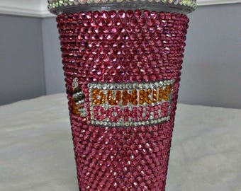 Blinged-out Dunkin Donuts Tumbler