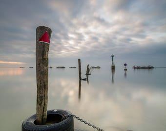 "Art original photograph ""Web"" - photo, ocean, ocean, tire, picket, port"