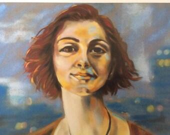 City Redhead - Giclee print of Original Artwork