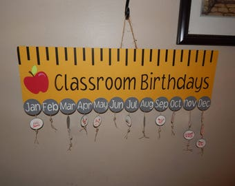 Classroom Birthday Sign