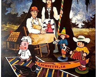 Festivals Acadiens by George Rodrigue