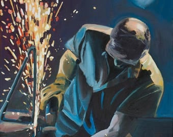 Oil painting-abstract-Grinding-sereis