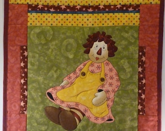 Quilted Wall Hanging - Raggedy Ann