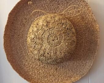 rattan summer sun hat