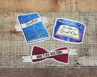 Doctor Who Set - Whovian Sticker 3 Pack