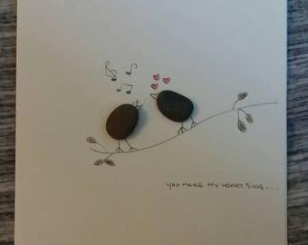 Pebble Art Greeting Card