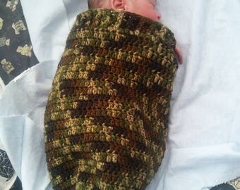 Handmade  Crochet Baby Cocoon