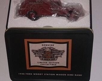 Harley-Davidson 1951 GMC Panel DIME BANK - - New in tin box